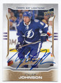 TYLER JOHNSON TAMPA BAY LIGHTNING AUTOGRAPHED HOCKEY CARD #20216K