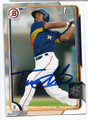 ALBERT ALMORA CHICAGO CUBS AUTOGRAPHED ROOKIE BASEBALL CARD #20316A