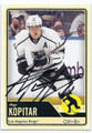 ANZE KOPITAR LOS ANGELES KINGS AUTOGRAPHED HOCKEY CARD #20316D