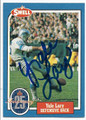YALE LARY DETROIT LIONS AUTOGRAPHED VINTAGE HALL OF FAME FOOTBALL CARD #20316F