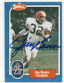 JIM BROWN CLEVELAND BROWNS AUTOGRAPHED VINTAGE FOOTBALL CARD #20316J