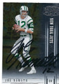 JOE NAMATH NEW YORK JETS AUTOGRAPHED FOOTBALL CARD #20416B