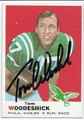 TOM WOODESHICK PHILADELPHIA EAGLES AUTOGRAPHED VINTAGE ROOKIE FOOTBALL CARD #20416i