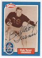 CLYDE TURNER CHICAGO BEARS AUTOGRAPHED VINTAGE HALL OF FAME FOOTBALL CARD #20416K