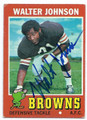 WALTER JOHNSON CLEVELAND BROWNS AUTOGRAPHED VINTAGE FOOTBALL CARD #20516C