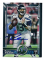 RUSSELL WILSON SEATTLE SEAHAWKS AUTOGRAPHED FOOTBALL CARD #20516F