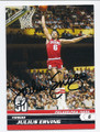 JULIUS ERVING PHILADELPHIA 76ers AUTOGRAPHED BASKETBALL CARD #201516K