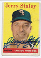 JERRY STALEY CHICAGO WHITE SOX AUTOGRAPHED VINTAGE BASEBALL CARD #20616D