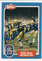 WILLIE DAVIS GREEN BAY PACKERS AUTOGRAPHED HALL OF FAME FOOTBALL CARD #20616E