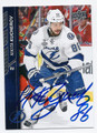 NIKITA KUCHEROV TAMPA BAY LIGHTNING AUTOGRAPHED HOCKEY CARD #20716C