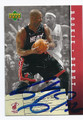 SHAQUILLE O'NEAL MIAMI HEAT AUTOGRAPHED BASKETBALL CARD #20816G