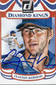 CLAYTON KERSHAW LOS ANGELES DODGERS AUTOGRAPHED BASEBALL CARD #20816J