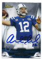 ANDREW LUCK INDIANAPOLIS COLTS AUTOGRAPHED FOOTBALL CARD #21016A