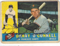 DANNY O'CONNELL SAN FRANCISCO GIANTS AUTOGRAPHED VINTAGE BASEBALL CARD #21016B