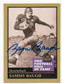 SAMMY BAUGH WASHINGTON REDSKINS AUTOGRAPHED FOOTBALL CARD #21116B