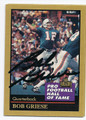 BOB GRIESE MIAMI DOLPHINS AUTOGRAPHED FOOTBALL CARD #21116G