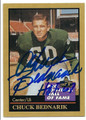 CHUCK BEDNARIK PHILADELPHIA EAGLES HALL OF FAME FOOTBALL CARD #21216B