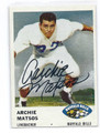 ARCHIE MATSOS BUFFALO BILLS AUTOGRAPHED VINTAGE FOOTBALL CARD #21316C