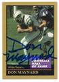 DON MAYNARD NEW YORK JETS AUTOGRAPHED HALL OF FAME FOOTBALL CARD #21416F