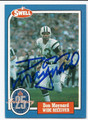 DON MAYNARD NEW YORK JETS AUTOGRAPHED VINTAGE FOOTBALL CARD #21416J