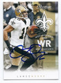 LANCE MOORE NEW ORLEANS SAINTS AUTOGRAPHED FOOTBALL CARD #21416L