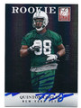 QUINTON COPLES NEW YORK JETS AUTOGRAPHED & NUMBERED ROOKIE FOOTBALL CARD #21516K