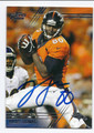JULIUS THOMAS DENVER BRONCOS AUTOGRAPHED FOOTBALL CARD #21616H