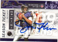 JOE FLACCO BALTIMORE RAVENS AUTOGRAPHED FOOTBALL CARD #21716i