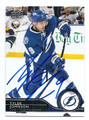 TYLER JOHNSON TAMPA BAY LIGHTNING AUTOGRAPHED HOCKEY CARD #21816E