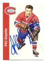 PHIL GOYETTE MONTREAL CANADIENS AUTOGRAPHED HOCKEY CARD #21816K
