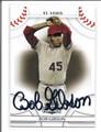 BOB GIBSON ST LOUIS CARDINALS AUTOGRAPHED BASEBALL CARD #21916A
