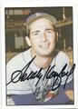 SANDY KOUFAX LOS ANGELES DODGERS AUTOGRAPHED BASEBALL CARD #21916F