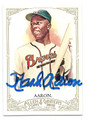HANK AARON ATLANTA BRAVES AUTOGRAPHED BASEBALL CARD #22016F