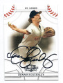 DENNIS ECKERSLEY ST LOUIS CARDINALS AUTOGRAPHED BASEBALL CARD #22016i