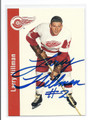 LARRY HILLMAN DETROIT RED WINGS AUTOGRAPHED HOCKEY CARD #22116D