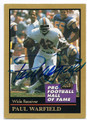 PAUL WARFIELD MIAMI DOLPHINS AUTOGRAPHED HALL OF FAME FOOTBALL CARD #22116F