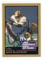KEN HOUSTON WASHINGTON REDSKINS AUTOGRAPHED HALL OF FAME FOOTBALL CARD #2211J