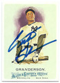 CURTIS GRANDERSON NEW YORK YANKEES AUTOGRAPHED BASEBALL CARD #22216D