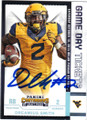 DREAMIUS SMITH WEST VIRGINIA UNIVERSITY AUTOGRAPHED ROOKIE FOOTBALL CARD #22216L