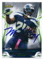 MARSHAWN LYNCH SEATTLE SEAHAWKS AUTOGRAPHED FOOTBALL CARD #22316H