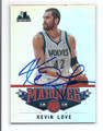 KEVIN LOVE MINNESOTA TIMBERWOLVES AUTOGRAPHED BASKETBALL CARD #22516C