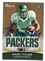 MARC TYLER GREEN BAY PACKERS AUTOGRAPHED ROOKIE FOOTBALL CARD #22516F