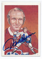 JACQUES GERARD LEMAIRE MONTREAL CANADIENS AUTOGRAPHED VINTAGE HALL OF FAME HOCKEY CARD #22516i