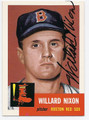 WILLARD NIXON BOSTON RED SOX AUTOGRAPHED BASEBALL CARD #22616B
