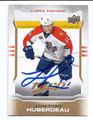JONATHAN HUBERDEAU FLORIDA PANTHERS AUTOGRAPHED HOCKEY CARD #22616F