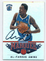 AL-FAROUQ AMINU NEW ORLEANS HORNETS AUTOGRAPHED BASKETBALL CARD #22616i