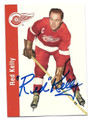 RED KELLY DETROIT RED WINGS AUTOGRAPHED HOCKEY CARD #22816A
