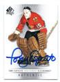 TONY ESPOSITO CHICAGO BLACKHAWKS AUTOGRAPHED HOCKEY CARD #30616B