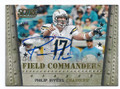 PHILIP RIVERS SAN DIEGO CHARGERS AUTOGRAPHED FOOTBALL CARD #30616E