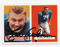 LOU CREEKMUR DETROIT LIONS AUTOGRAPHED FOOTBALL CARD #30616G